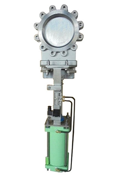 Pneumatic stainless steel knife gate valves