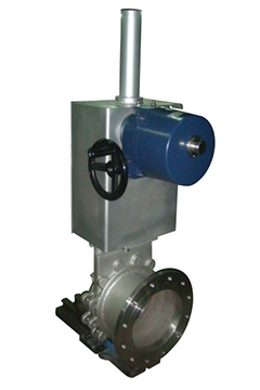 Electric operated knife gate valves