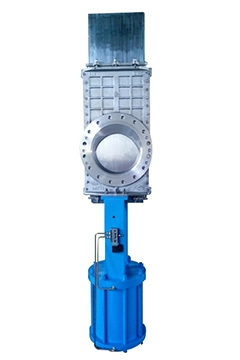 Pneumatic slide knife gate valves