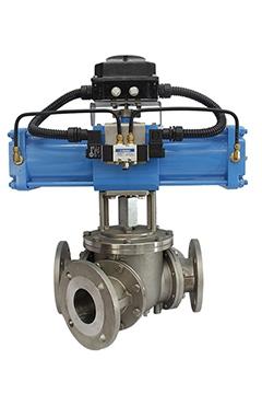 Y type 3 way ball diverter valves