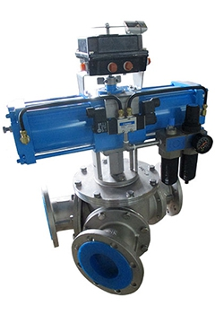 Y type 3 way ball diverter valves
