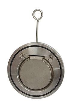Single disc wafer check valves