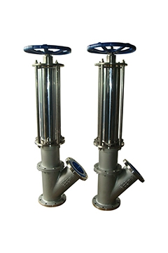 Y type flush bottom tank valves(Rising Disc Type)