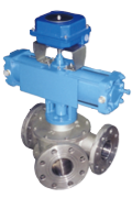 Y type 3 way plug diverter valves