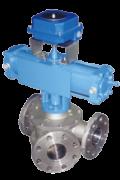 Y type 3 way plug diverter valves