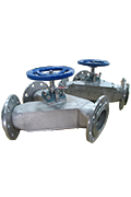 Y type 3 way damper diverter valves