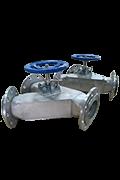 Y type 3 way damper diverter valves
