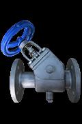 Semi jacket Y type globe valves