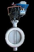 Pneumatic butterfly valves